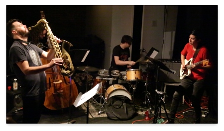 (Ava Mendoza Quartet with Matt Nelson, Max Johnson, Weasel Walter -- Photo by Don Mount)